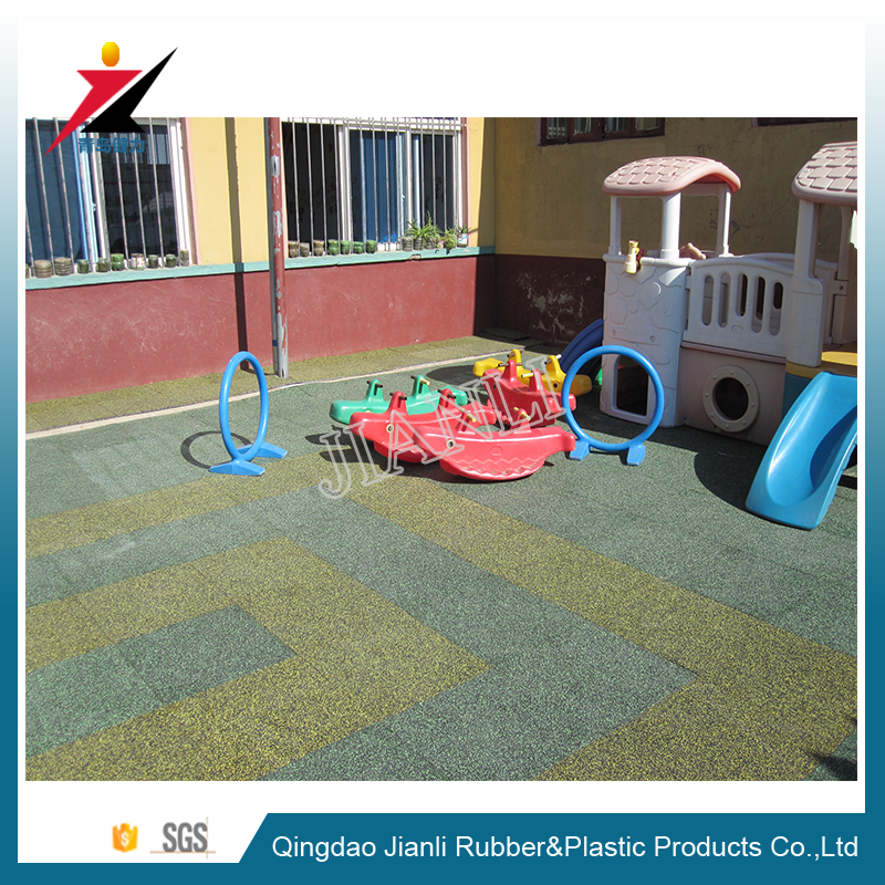 Outdoor Colorful EPDM Rubber Gym Flooring Tile