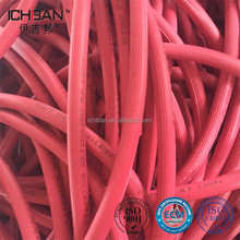 Flexible air compressor rubber hose with fittings