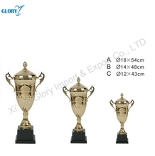 Innovative Discount Gold Flower Metal Trophy Cup