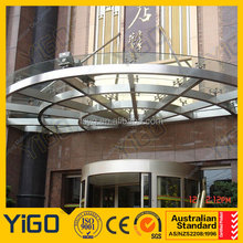 Tempered Glass Hotel Canopy