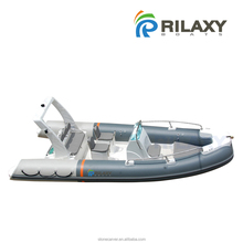 Rilaxy Factory Directly 5.2m 17ft dual layer fiberglass hull rigid inflatable boat RIB520A