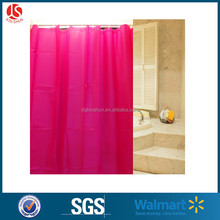 Peach Red PEVA Plastic Drop Film Shower Curtain For Bathroom Decor