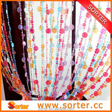 decorative colorful plastic beaded chain curtain for living room/garage/window