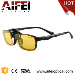 2015 new&hot sale driver yellow clip on sunglasses night vision glasses