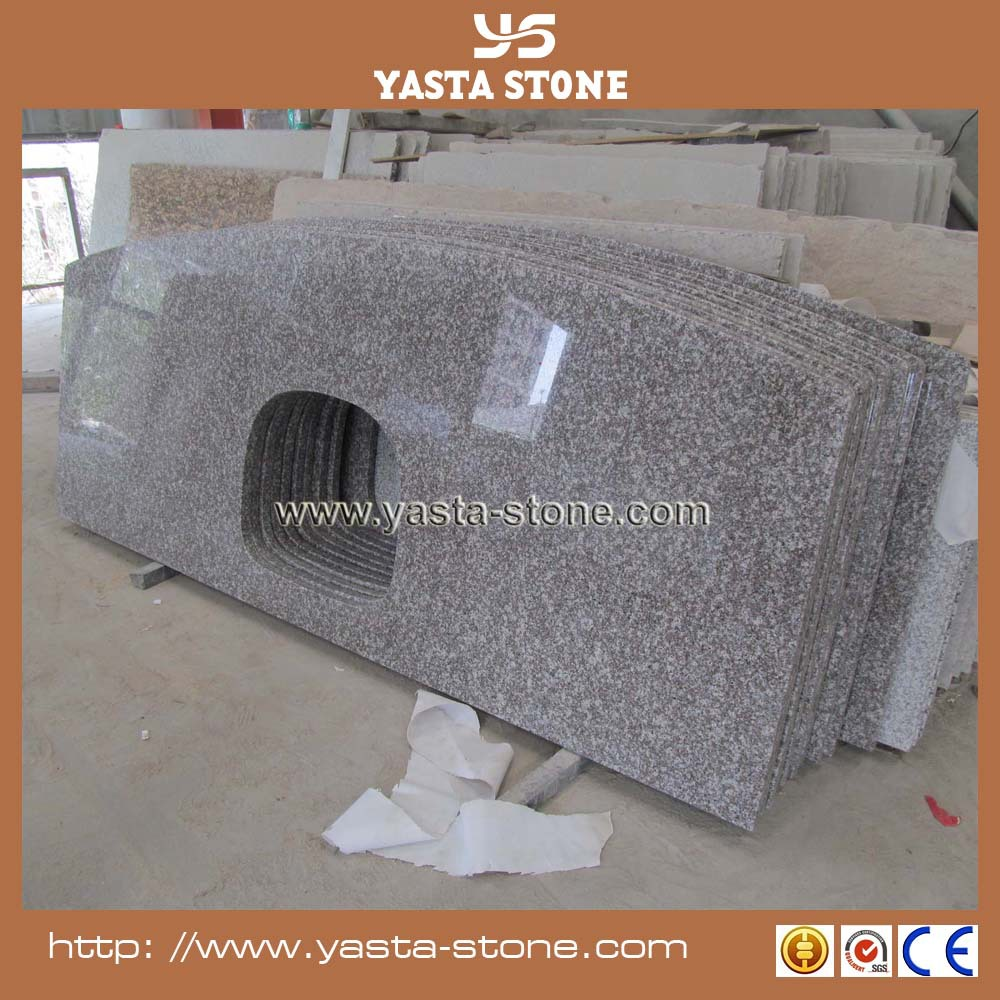 Natural laminated red granite countertop price