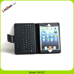 PU Leather Case for ipad mini wireless bluetooth keyboard For new iPad mini
