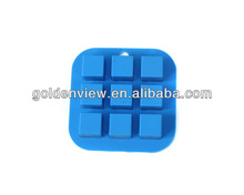 mini 9 cups square silicone ice cube freeze mold Panna cotta milk jelly mould ice cube freezing tray chocolate pudding maker
