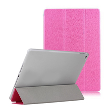 tablet cover competitive ultra thin three fold pu leather case universal hard case for ipad 6
