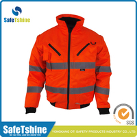 High visibility red reflective fluorescent waterproof jacket