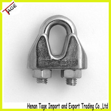 High Quality Stainless Steel Wire Rope Clip/wire rope cross clamp