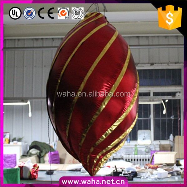 new ceiling hanging inflatable Christmas decoration ball with led lights changabe