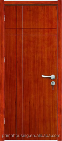 Australian white PVC coated interior MDF wooden flush door design for room