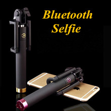 2017 fashion Mini Wireless Bluetooth Selfie Stick with Built-in Remote Shutter for iphone 7