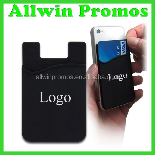 Silicone Adhesive Card Pocket for Smartphones