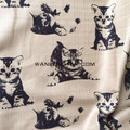 Pet printed linen look fabric for sofa cover curtain fabric wholesales