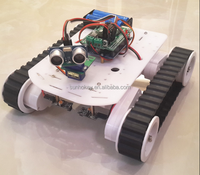 Smart car obstacle avoidance robot crawler vehicle tracking avoidance tank chassis car kit