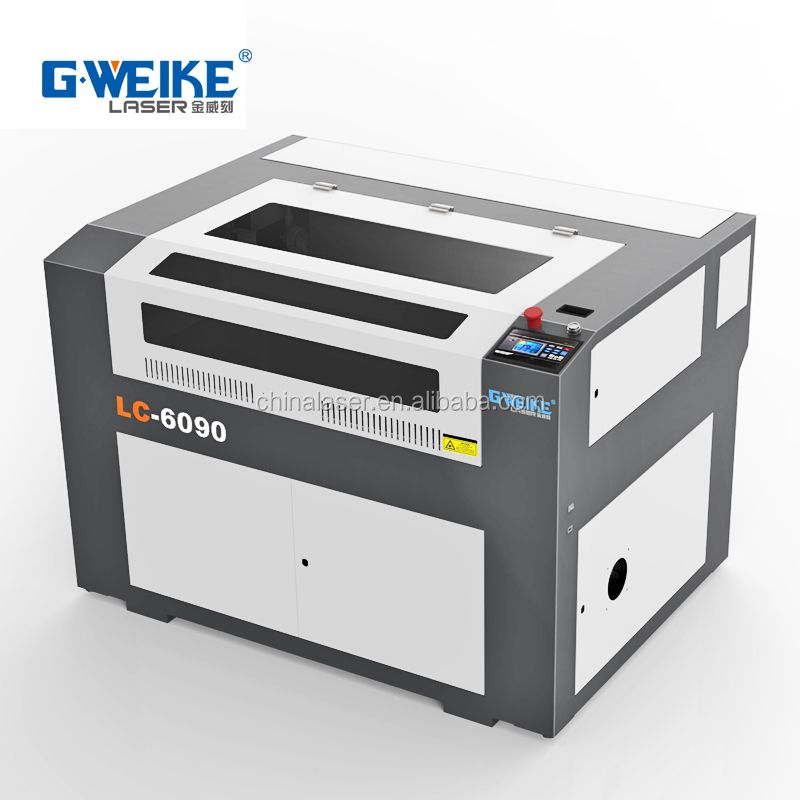 Rotary LC6090 laser engraving cutting machine on glass cup, wood, leather, <strong>paper</strong> with CE