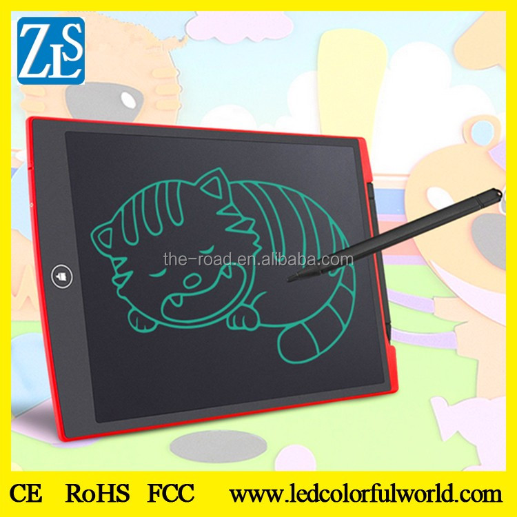 "Lowest Price 12"" drawing digital writing note pad 7 color boogie board"