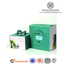 Custom bakery take away paper cardboard cake packaging box