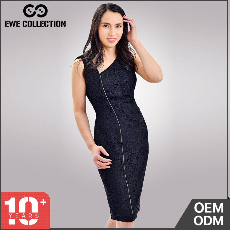 Top quantity New product good elasticity lace dress sexy black new fashion ladies dress