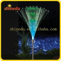 solar fiber powered optical garden courtyard pole light