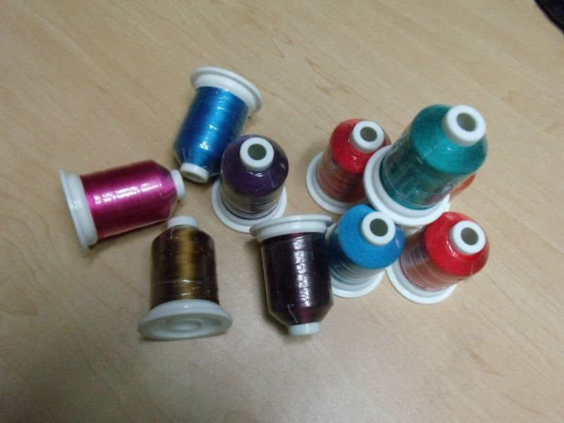 100% multi color 5000m 120D/2 polyester embroidery thread