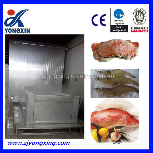 fish fillet seafood quick freezing iqf tunnel type blast freezer machine