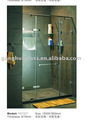 Stainless Steel Top Bar Swing Tempered Glass Shower Screen Door (YH1317)