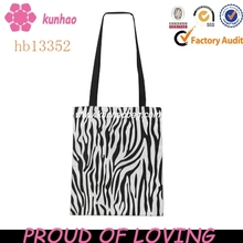 Zebra Canvas Tote Bag