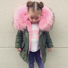 Children Faux Fur Parka Jacket, Kids fur coat, Fur coat customized design