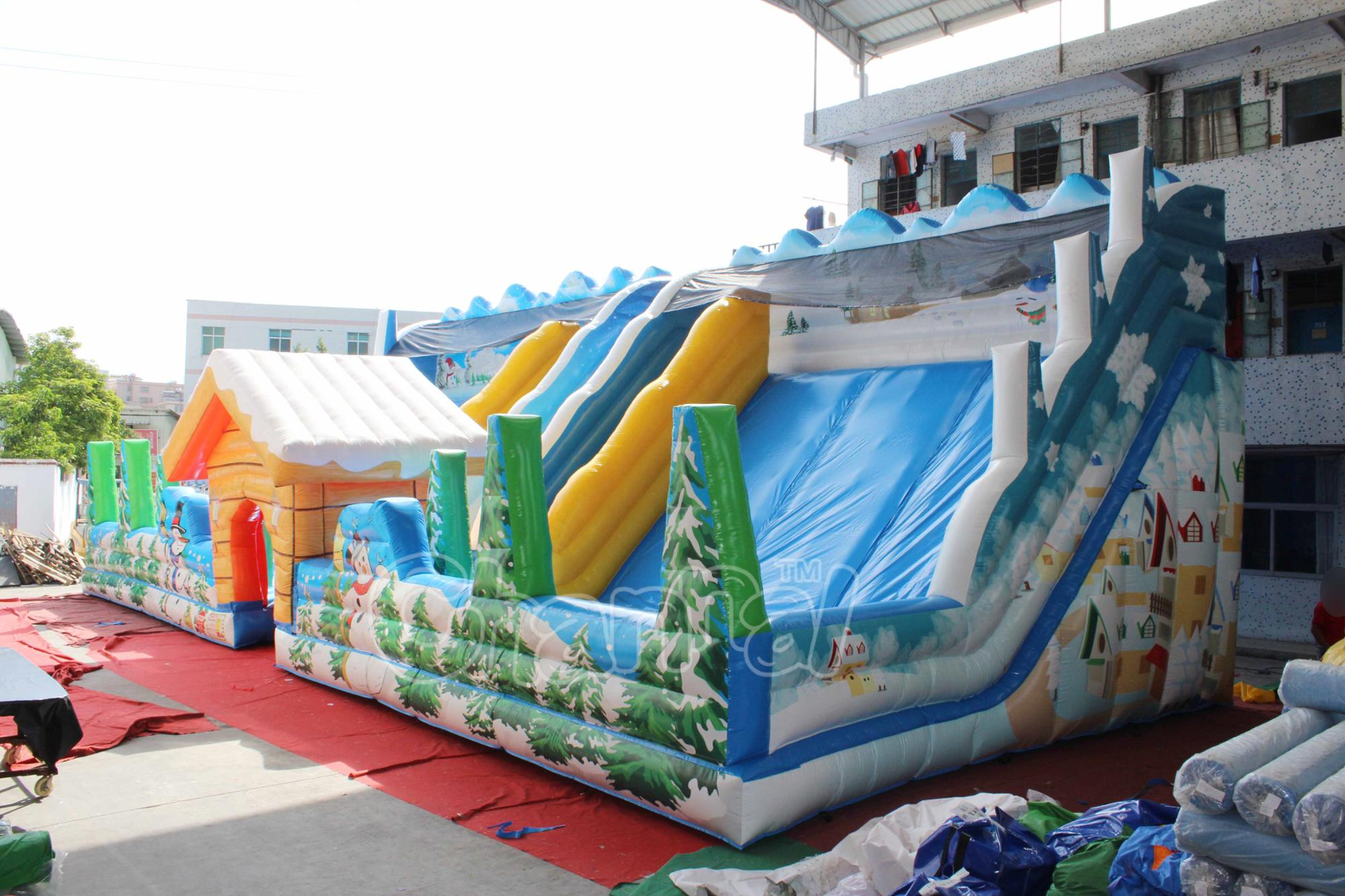 Giant inflatable fun city inflatable playground bouncer slide  Inflatable amusement park on sale