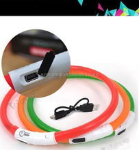 China new arrival solar energy and with USB charging led dog collar