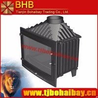 BHB indoor decoration and heating burning cast iron wood fireplace