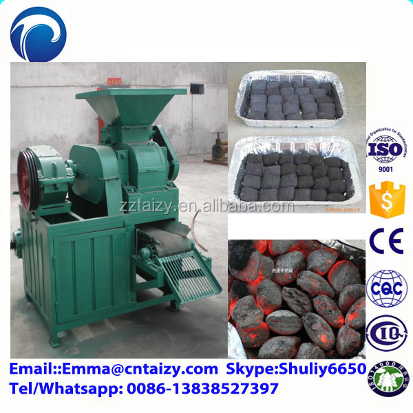 rice husk charcoal making machine roller type charcoal briquette machine coal ball press machine for bbq