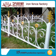 Beautiful ornamental exterior artistic steel grills fence design/ European used laser modern aluminum fencing for villas garden