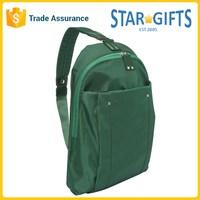 Green Businessman Custom Logo Print 100% Nylon Slim Backpack For Mini Computer