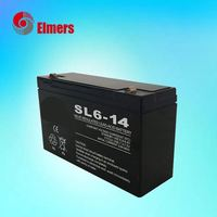 Cheap high-rate lead acid battery 6v14ah MF battery