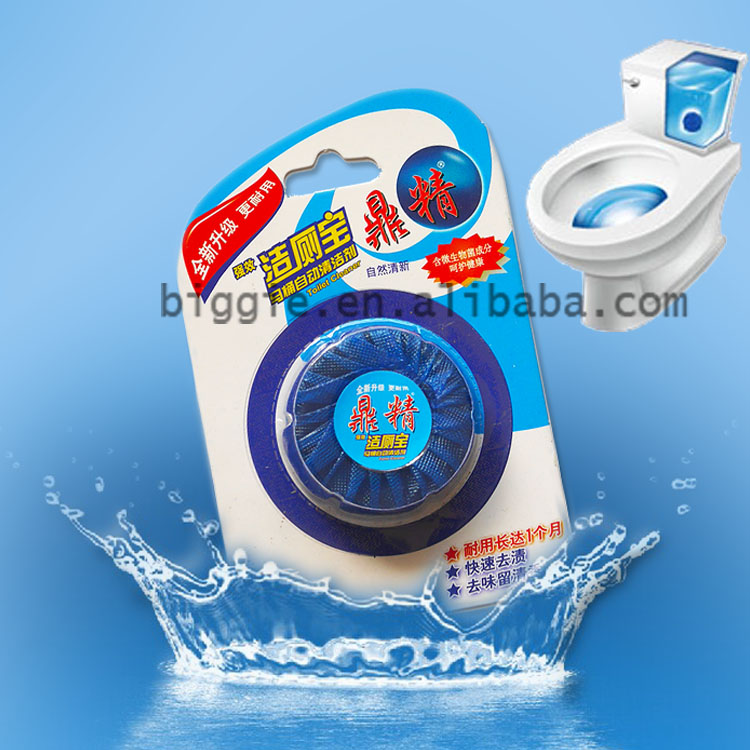 1pcs Blue-Touch brand Solid toilet bowl Cleaner Drop scleaner Blue Block detergent Cleaner with fragrance