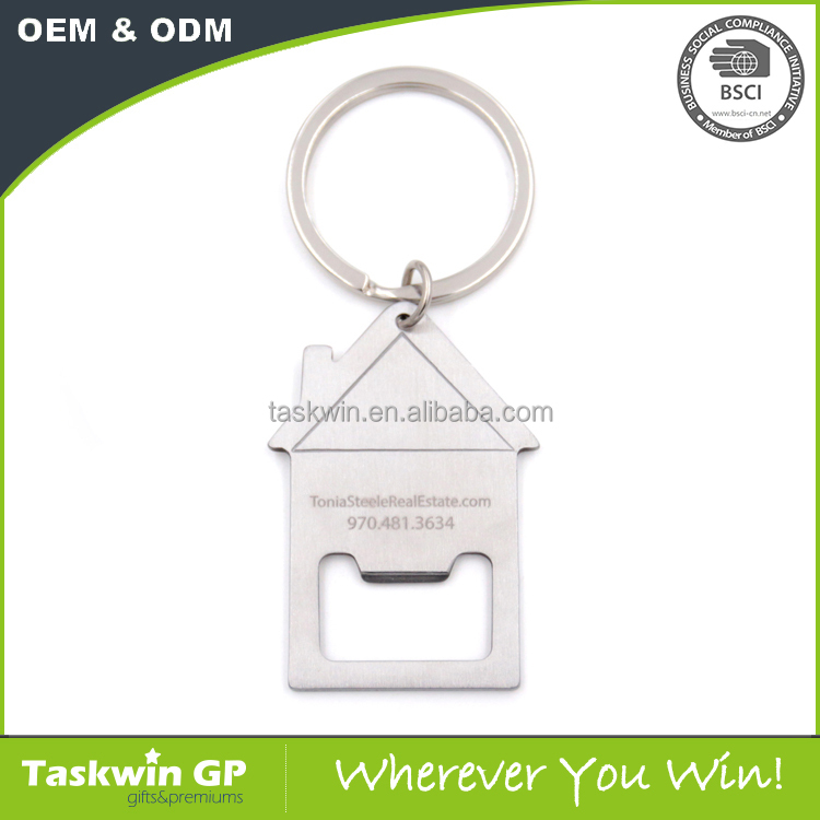 Blank matel Key Chain house shaped keychain