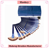2017 PRO 24pcs Blue Makeup Brushes with private label bule makeup brushes