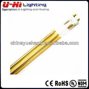 twin double tube Infrared Quartz golded coating IR lamp