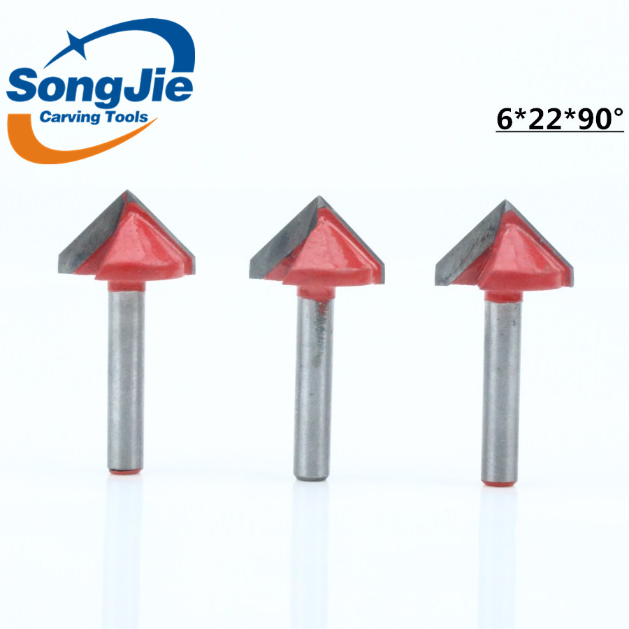 High Quality Wood router bits V groove 3D woodworking tools for woodworking machine