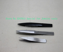 Steel Soft Tweezers Diamond Jewelry Tweezers Repairing Tools