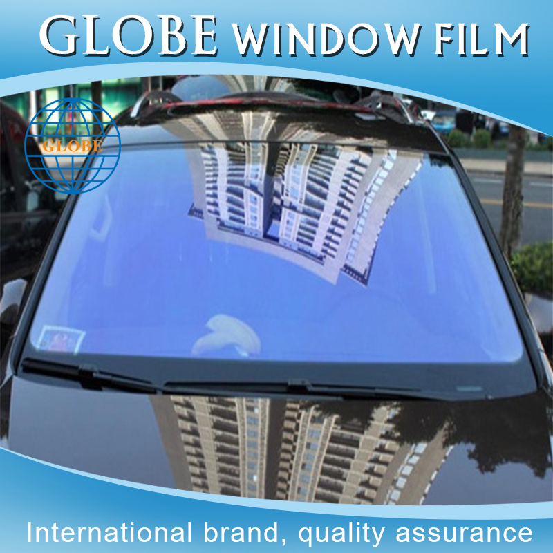 Decorative window bf blue chameleon window tint film for windows
