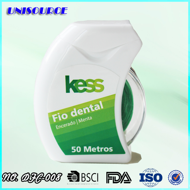wholesale green color PTFE material dental floss