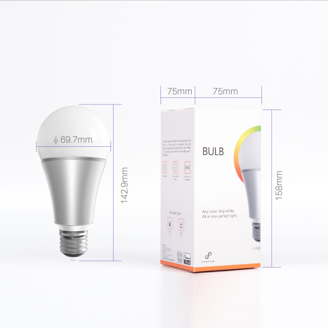 868.42MHz/908.42MHz warm white/cold white/ pure white 9w auto led light bulb light