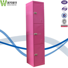 Best selling red combination lock 3 tier door cheap clothes cabinet,contico storage locker