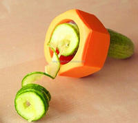 Spiral slicer cucumber, melons arrange knives, kitchen fast slicer