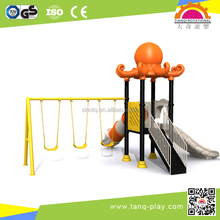 Used children outdoor playground equipment, galvanized steel and plastic slides