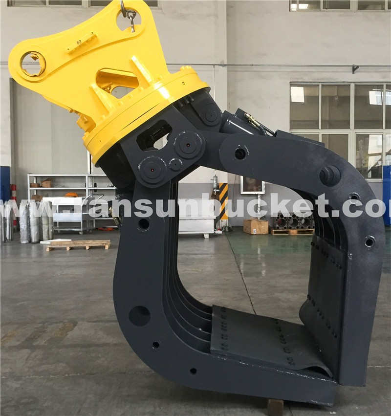Promotion Price excavator timber grapple with hydraulic rotator for excavator